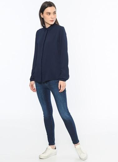 Biye Detaylı Gömlek-Koton